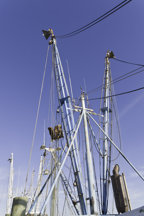 shrimp boat booms in Apalachicola